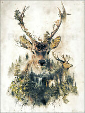 Aluminio-Dibond Deer Nature Surrealism - Barrett Biggers