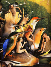 Aluminio-Dibond Garden of Earthly Delights, mankind before the F... - H. Bosch
