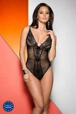 Jovita Body nero pizzo Lingerie Teddy biancheria sexy body S M L XL