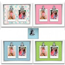 Wood frame with clip photo holder ideal for instax mini