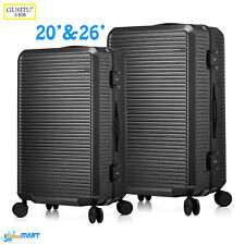 "Luxury Gusitu Suitcase Spinner Trolley Luggage Bag PC Material 20"" & 26"" inch UK"