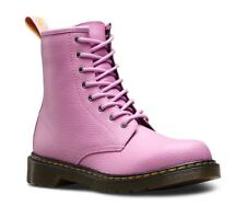 Dr Martens Delaney 1460 8 eyelet Boot Mallow Pink Leather with laces and zip