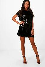Boohoo Boutique Lucy Disc Sequin Cap Sleeve Shift Dress para Mujer