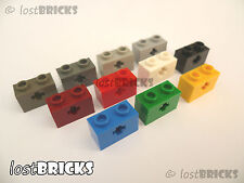10 Pack of NEW LEGO Technic Bricks 1x2 Axle Hole (Part 32064) + SELECT COLOUR