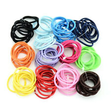 10X Baby Black Elastic Hair Ties Band Ropes Ring Ponytail Holders Accessories