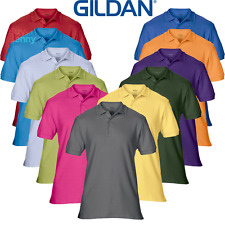 GILDAN UOMO POLO Premium cotone morbido sport tennis golf top estate S-3XL