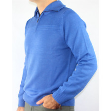 GOLF HOMME POLO AVEC FERMETURE ÉCLAIR LAINE MADE IN ITALY PULL