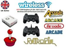 NEW 2018, Wireless & Wired PS3 Gamepad Raspberry Pi 3B+ Retropie Arcade Console