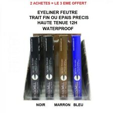EYE LINER FEUTRE SEMI PERMANENT NOIR MARRON BLEU YEUX POCHOIR MAQUILLAGE MAC145
