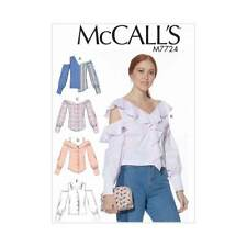 Womens Button Front Tops | McCalls Sewing Pattern M7724