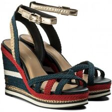 TOMMY HILFIGER FW0FW02396/020 CORPORATE WEDGE SANDAL SPORTY SANDALIA DE CUÑA RWB