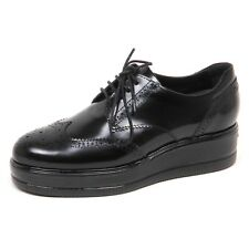 E3888 scarpa donna HOGAN H323 scarpe francesina nero shoe woman