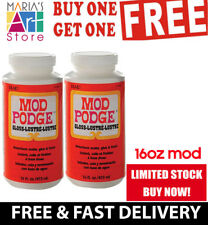 Bogof Mod Podge Decoupage Adhesive Sealer Glue Finish Varnish Offer 16Oz=32Oz
