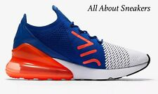 "Nike Air Max 270 Flyknit ""White/Racer Blue/Total"" Men's  Limited Stock All Sizes"