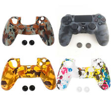 Camouflage Silicone Cover Soft + 2 Joystick Caps For Dualshock 4 PS4 Controller