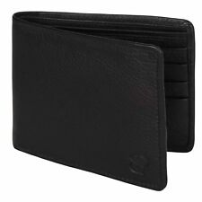 Mens Wallet GENUINE Leather - Coin - BiFold WALLET in Gift Box - NEW - Handmade