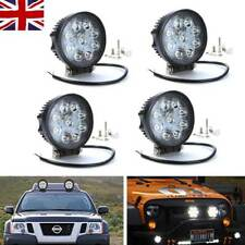 UK 27W Round LED Work Light Bar Spot Combo Offroad Driving Truck Car Front Lamp