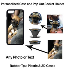 Custom Personalised iPhone Case Cover with Pop out up Grip 5 5s se 6 6s 7 8 X +