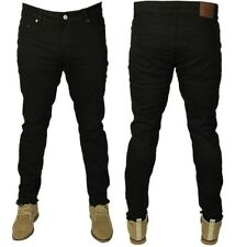 MENS NEW ONLY & SONS BLACK SLIM FIT RIPPED JEANS STRETCH STRAIGHT LEG RRP £30.00