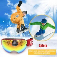 Men Women No Frame SPOSUNE Double Layers Snow Sports Anti-Fog Skiing Goggles JK
