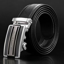 KS Fashion Men's Automatic Buckle Belt Genuine Leather Ratchet Waistband Gift