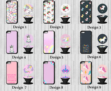 Unicorn Girly iPhone Case Cover with Pop up out Grip  5c 5 5s se 6 6s 7 8 X Plus