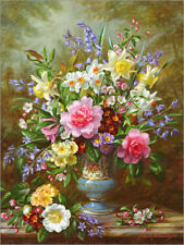 Cuadro sobre lienzo Bluebells, daffodils, primroses and peonies - A. Williams