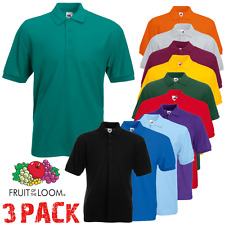 3 FRUIT OF THE LOOM HOMME POLOS Uni Sport T-shirt manches courtes S-5XL paquet