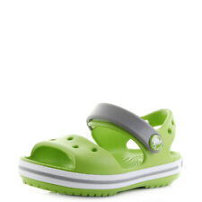 Kids Crocs Crocband Sandal Volt Green Lime Summer Sandals Sz Size
