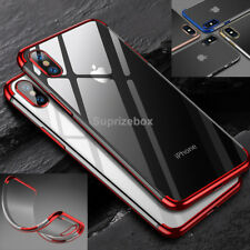 Luxury Ultra Slim Shockproof Silicone Clear Case Cover for iPhone XS 7 X 8 6s 6