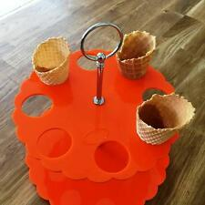CONO DE HELADO Soporte - naranja,sizes for 4 , 8 OR 12 Cones