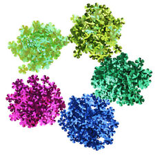 100Pcs Flower Shape Loose Sequins Flat Sewing Costumes Crafts Card Making