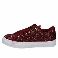 scarpe donna GUESS sneakers bordeaux glitter BY957