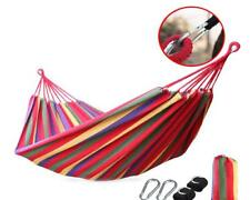 Big Size Hammock Portable Camping Garden Beach Travel Outdoor Colorful Swing Bed