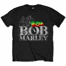 Bob Marley Distressed Logo Official Merchandise T-Shirt M/L/XL - Neu