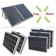 DC 100W 200W 12V Portable Folding Solar Panel Module for Car Boat Camping Home