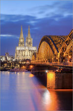 Cuadro de madera Cologne Hohenzollern Bridge and Cathedral - Michael Valjak