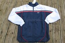 Sergio Tacchini  INKWELL TRACKSUIT TOP  NAVY BLUE WHITE RED CASUALS MICROFIBRE
