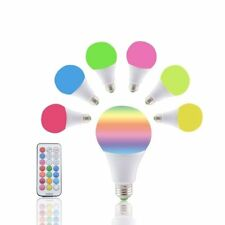10W 16 COLOUR CHANGING RGB LED B22 BULB MOOD NIGHT LIGHT LAMP +REMOTE CONTROLLER