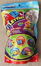 JARU Magnetic ABC Letters & 123 Numbers! 60 Pieces! NEW! Resealable Bag!