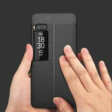Luxury Shockproof Soft TPU case For Meizu pro 7 Back Leather Phone Cases for mei