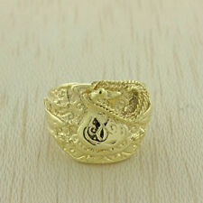 NEUF solide 9 Ct Or jaune grand classique selle Bague 22.7g (C241)