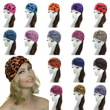Women Ladies Girls Fashion Leopard Indian Style Cotton Hat Hairwrap Cap Headwrap