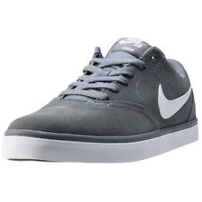 Mens Nike SB Check Solar Suede Grey White Branded Footwear Shoes Trainers