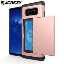 Slide Wallet Credit Card Slot Phone Case For Samsung Galaxy S8 S9+ Plus Note 8 S