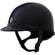 CHARLES OWEN AYR8 SIMILPELLE Cap equitazione - blu scuro/Argento