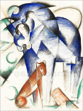 Póster Mythical Creatures (Blue Horse and Red Dog) - Franz Marc