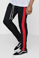 Boohoo Skinny Fit Panel Joggers With Elongated Drawcord per Uomo