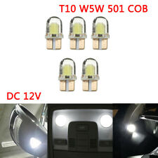 T10 W5W 194 501 COB LED White Car Side Number Wedge Interior Light bulbs DC12V