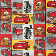 Cars Red  100% cotton fabric sold per fat quarter/ half metre